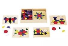 MELISSA & DOUG Educational Toddler Art Wood TOY Shapes Colors Puzzles Rainbow EC