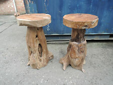 TEAK ROOT BAR STOOL FOR INDOOR& OUTDOOR  STURDY, SEAT 40CM DIA HEIGHT 75CM AT038