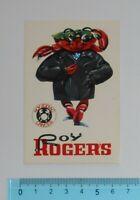 ADESIVO STICKER VINTAGE AUTOCOLLANT ORIGINALE ANNI '80 ROY ROGER'S ZODIAC 6x9 cm