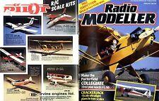 RADIO MODELLER MAGAZINE 1985 FEB PORTERFIELD COLLEGIATE FREE PLAN, CRACKERJACK