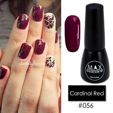 MAX 7ml Nail Art Color UV LED Lamp Soak Off Gel Polish #056-Cardinal Red