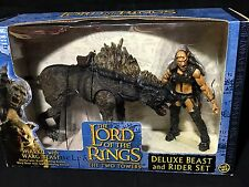 New SHARKU & WARG BEAST LOTR Deluxe Beast & Rider Figures  LORD OF THE RINGS