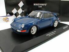 """Minichamps 155069101 # PORSCHE 911 Turbo Baujahr 1990 in """" blaumetallic """" 1:18"""