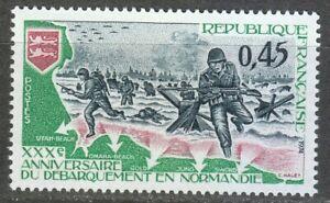 France 1974 MNH Mi 1877 Americans Landing in Normandy, World War II. WW2 **