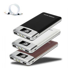 Tragbare 20000mah Power Bank 2USB 2LED LCD Externes Ladegerät Für iPhone X 8Plus
