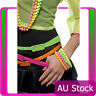 Ladies Beaded Bracelets Neon Assorted 1980s 80s Disco Party Costume Accessories