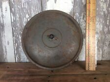 Metal Lid , Rustic Country Pot Lid With Wood Finial Or Knob