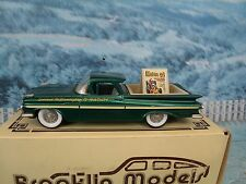 1/43 Brooklin models  Chevrolet El Camino 1959 modelex 1994 BRK 46x white metal