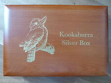 Kookaburra Wooden Coin Box - Holds either 10 oz or 1kg Coins