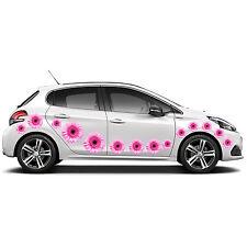 32 Gerbera Flor calcomanías adhesivos para coches ventana de gráficos de pared panel del cuerpo Nuevo Rosa