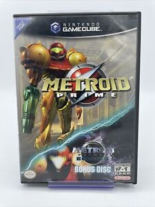 Metroid Prime Nintendo Gamecube Game W/ Prime 2 Echoes Bonus Disc No Manual