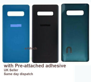 For Samsung Galaxy S10 G973 Rear Battery Cover Back Glass + camera Lens