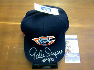 GALE SAYERS # 40 CHICAGO BEARS HOF SIGNED AUTO NFL AMERICAN NEEDLE HAT CAP JSA