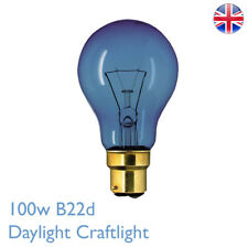 100w BC Daylight Craftlight GLS Blue Filter Bulb 240v SAD Therapy Crafts Lamp