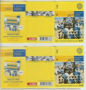 Stamps 2005 Rotary booklet pair APTA Pacific Explorer overprint 2 barcodes