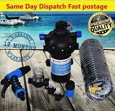 12v Washdown Pump Kit 20l/min 70 PSI Deck Wash Caravan Boat - 1 Year