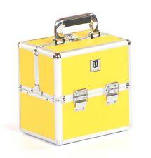Vanity makeup jewellery cosmetic hair beauty nail trinket case box yellow