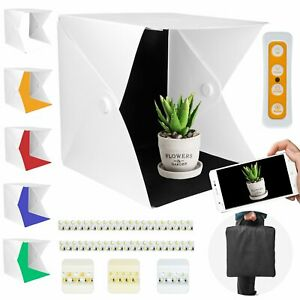 Fotobox Fotostudio Lichtzelt 40x40 Photobox 140 LED Mini Tischplatte Fotografie