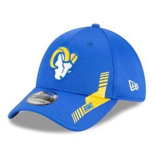 2021 Los Angeles Rams New Era 39THIRTY NFL Home Sideline On Field Flex Hat Cap