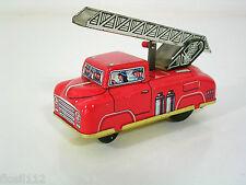 Schönes Feuerwehrauto,Blech,Aufzugsmotor,Made in Western Germany,50er J.,Top