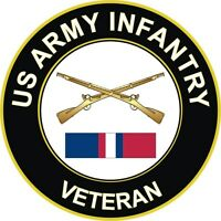 "Army Infantry Kosovo Veteran 5.5"" Decal / Sticker"