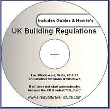 2001-2017 Regno Unito regolamento edilizio regole EBOOK CD + guide fai da te. per PC, Scheda, Telefono