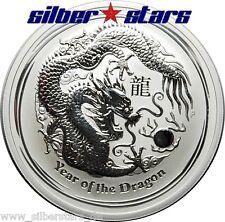 2 OZ Silber Lunar II 2012 Australien 2 Dollar Drache