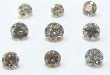 1/4 Carat 2mm BROWN BRILLIANT CUT ROUND POLISHED DIAMONDS 3 pointers
