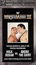 WWF - WrestleMania 3 (VHS, 1999)