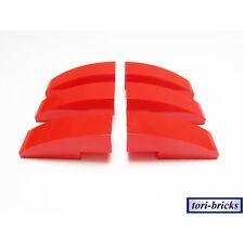Lego Dachstein / Slope gewölbt 3x1 rot 6 Stück »NEU« # 50950