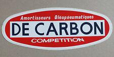 AUTOCOLLANT - DE CARBON - AMORTISSEURS OLEOPNEUMATIQUES - COMPETITION