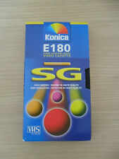 4 X  KONICA SUPER SG BLANK VHS E180 TAPES