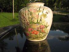 """Vintage peacock Vase Marked Omc Japan Very nice 5.75"""""""