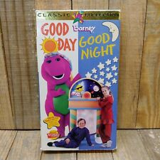 Barney - Good Day, Good Night (VHS, 1997) Tested Vintage Collectible Kids Fun