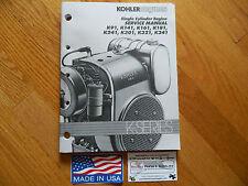 kohler manual lawn mower parts accessories oem kohler engine k series k90 k91 k141 k161 k181 k241 k301 k321 service manual