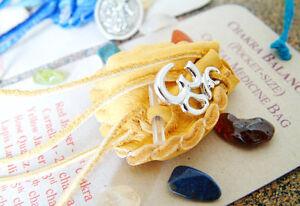 CHAKRA BALANCING CRYSTAL MEDICINE BAG Pocket Size Deer Pouch w/ Reiki Gemstones