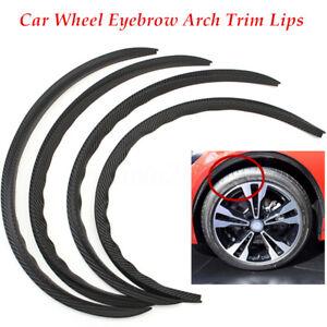 4PCS/SET Carbon Fiber Car Wheel Trims Eyebrow Arch Trim Lips Fender Flares