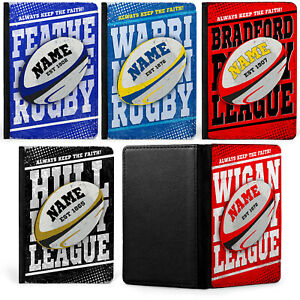 Rugby League Passport Case Retro Travel ID Holder Personalised Gift ALL TEAMS