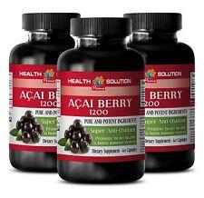 Extreme Fat Burner 90 Capsules - Acai Berry Extract 1200mg - Acai Juice 3B