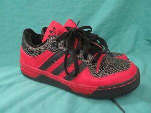 2002 Adidas Metro Shoes Attitude Lo Black & Red Snake Print Shoes 146214 Size 7