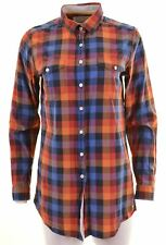 JACK WILLS Womens Shirt Size 10 Small Multi Check Cotton  EX10