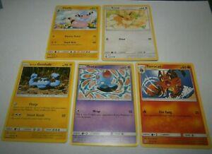 5x POKEMON CARDS BULK LOT -FLAFFY EVEE GEODUDE TENTACOOL TORRACAT - FREE POST!!