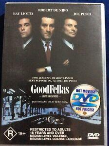 GoodFellas - Region 4 DVD - Great Condition - Robert De Niro - FREE POST