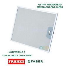 FILTRO CAPPA ALLUMINIO METALLICO 253X300X8MM ANTIGRASSO FABER UNIVERSALE FRANKE