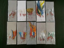 SEA FISHING: 10  x  ASSORTED  MACKEREL COLOURED FEATHER / GLITTER RIGS