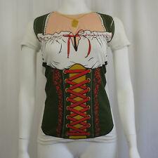 Oktoberfest Fraulein German Women Beer Costume Juniors Girl T-Shirt S NEW