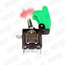 ON/OFF SPST 3P RED ILLUMINATED TOGGLE SWITCH w/GREEN COVER #662050/665013