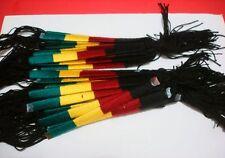 12 friendship Handmade bracelets Rastafarian color 704B