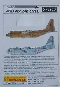 Xtradecal 1/72 X72320 Lockheed C-130H Hercules Collection Pt 1 Decal Set