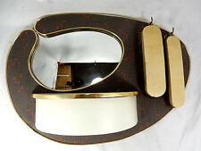 Seltene asymmetrische 50´s Design Wandkonsole mit Spiegel #  rare wall bracket
